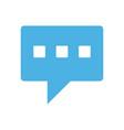 conversation bubble mobile messaging icon image vector image