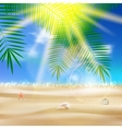 Beautiful seaside view poster vector image vector image
