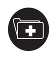 Folder with cross icon vector image