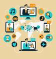 Business Communication Social network vector image