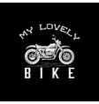 vintage grunge motorcycle graphic design template vector image