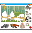 educational preschool task cartoon vector image