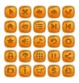 Cartoon orange square buttons vector image