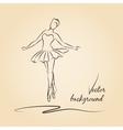 Sketched ballerina vector image vector image