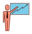 businessman pointing presentation board success vector image