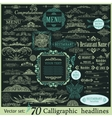 Calligraphic vintage design elements vector image