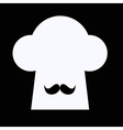 Chef hat with moustache vector image