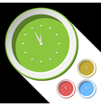 color icons - with clock vector image