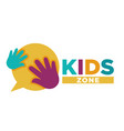 kid zone playground or children education vector image