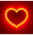 Light heart vector image