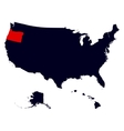 Oregon State in the United States map vector image