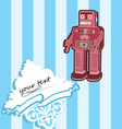 robot card with baroque elements vector image