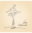 Sketched ballerina vector image
