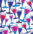 Sophisticated wine goblets continuous backdrop vector image
