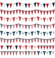 Uk party bunting vector image