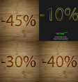 10 30 40 icon Set of percent discount on abstract vector image