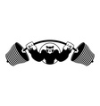 Angry pig athlete Barbell and Aggressive big boar vector image vector image