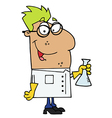 Hispanic Scientist vector image vector image