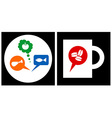 Restaurant and coffee shop icon vector image
