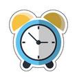 cartoon clock time alarm hour vector image