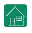 label nice house with door window and roof vector image