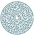 Round maze vector image
