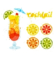 Abstract image of a cocktail vector image