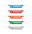 Information paper tag labels vector image vector image