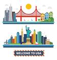 Welcome to USA vector image