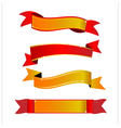 Red and gold banner vector image
