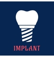Dental implant with replacement crown vector image vector image