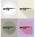 weapon flat icons 04 vector image vector image