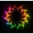 Abstract rainbow neon spirals cosmic frame vector image