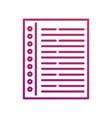 document paper sheet office letter communication vector image