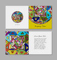 greeting card design ethnic mandala vector image