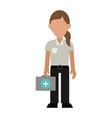 paramedic woman avatar icon image vector image