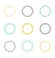 Set of silhouette circular laurel wreaths vector image
