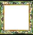 stained-glass window frame for photography vector image