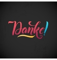 Thank You German Language Pink Lettering on vector image