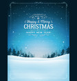 vintage christmas and new year landscape vector image