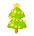 fir-tree isolated on white Cartoon vector image
