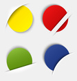 Set of colorful blank round labels in your pocket vector image