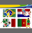Soccer football players Brazil 2014 group A vector image vector image