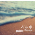Summer beach vintage blurred background vector image