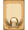 beer festival background vector image vector image