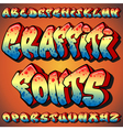 graffiti fonts vector image