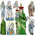 Virgin Mary Set vector image