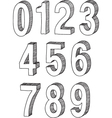 numbers sketch vector image vector image
