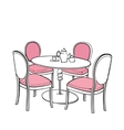 Furniture in summer cafe vector image