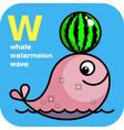 ABC whale watermelon wave vector image